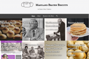 A screenshot of the new front page layout of MDBeatenBiscuits.com